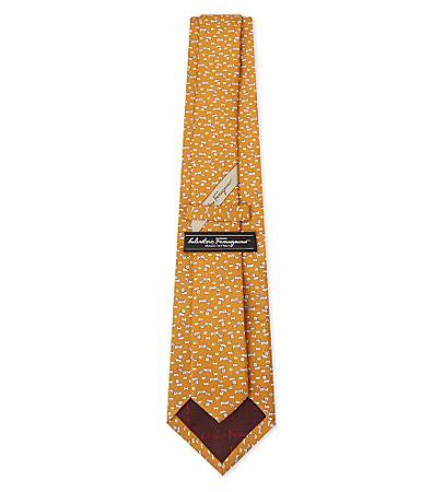 Salvatore Ferragamo Print Silk Tie(菲拉格慕印花丝绸领带)