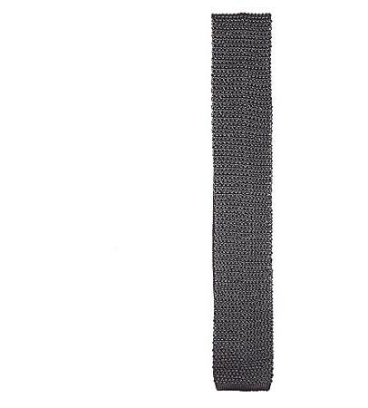 Ralph Lauren Purple Label Square-end Knitted Silk Tie(拉尔夫·劳伦紫标针织领带)