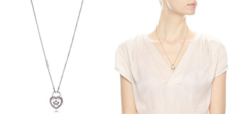 Pandora项链点评 Lock Your Promise Necklace