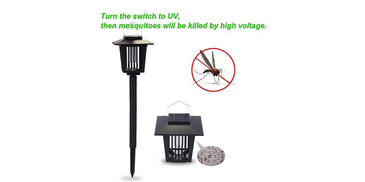 2 Pack Solar Insect Killer Lamp