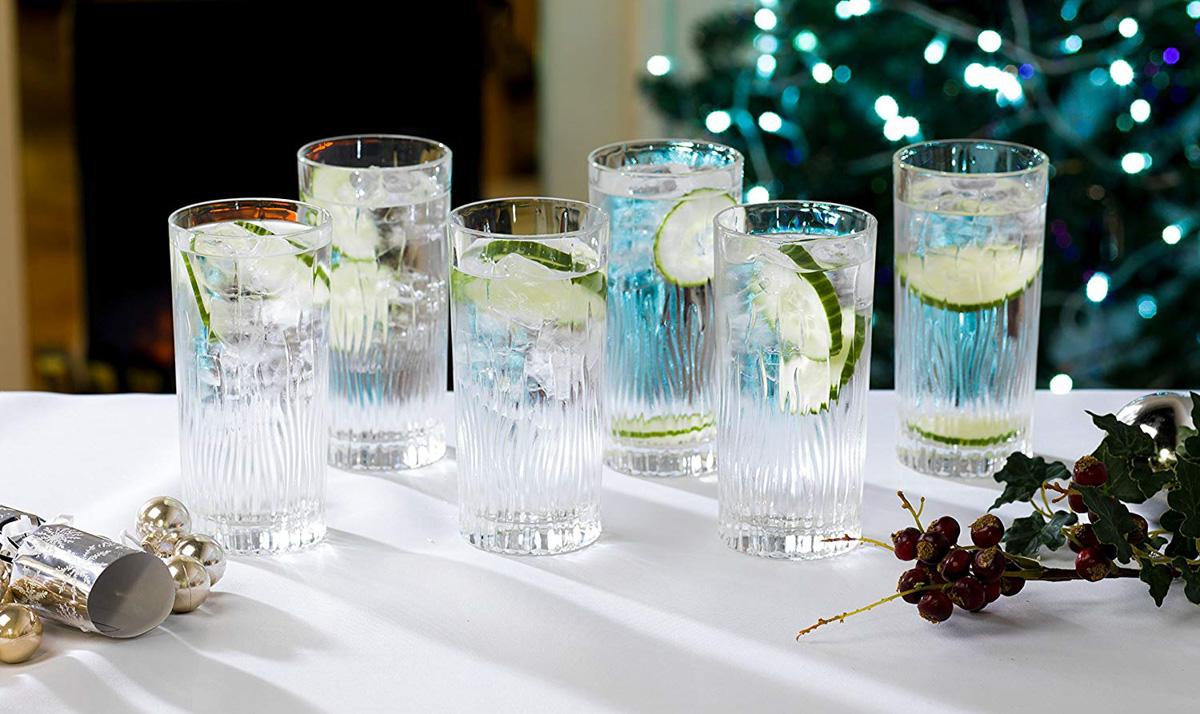 Crystal Hi-Ball Cocktail Glasses