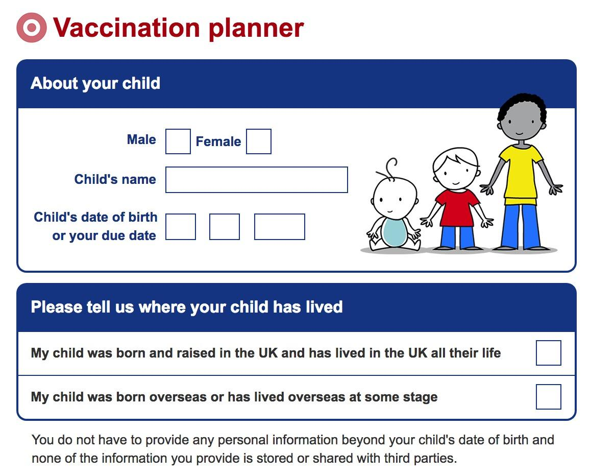 NHS Vaccination planner