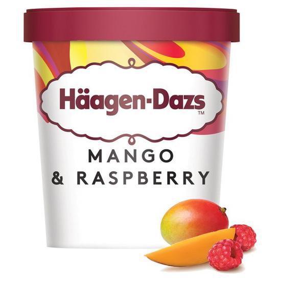 Haagen Dazs Mango Raspberry Ice Cream