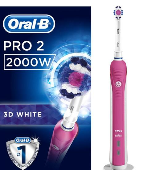 Oral-B Pro 2 2000W Electric Toothbrush Powered By Braun