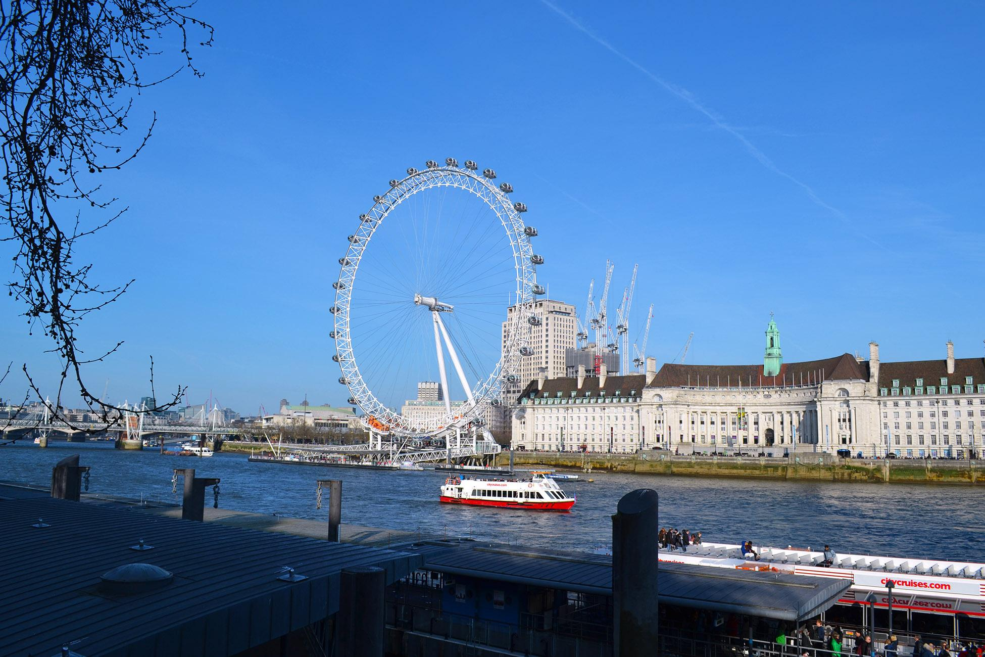 从大本钟方向看伦敦眼