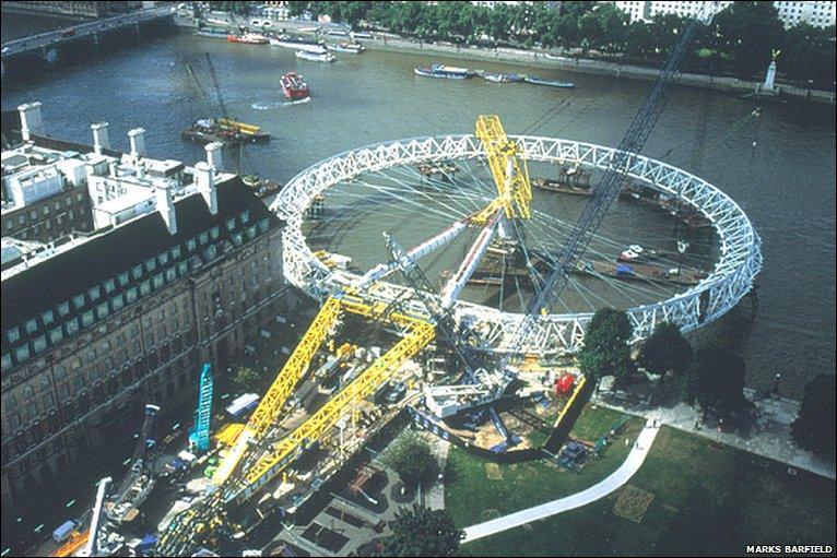 修建时的伦敦眼
