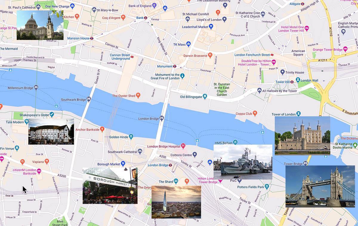 伦敦塔桥周边景点