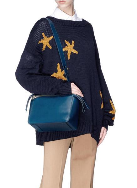 sophie-hulme-Blue-bolt-Leather-Shoulder-Bag