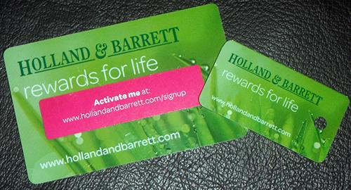 Holland and Barrett Rewards Card