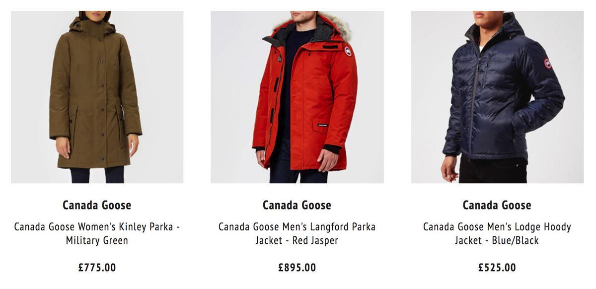 Coggles 加拿大鹅羽绒服截图