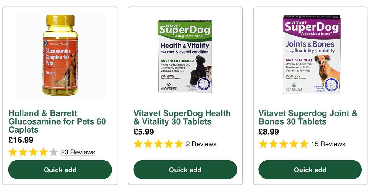 HB官网宠物膳食补充剂